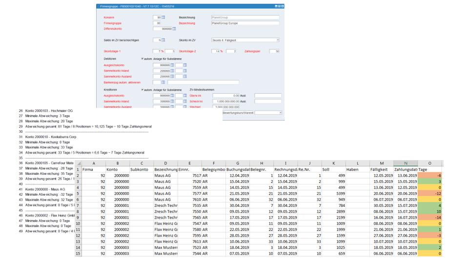 Verwaltung der Zahlungskonditionen und Monitoring der Zahlungsmoral